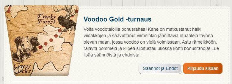 Suomiautomaatti - Voodoo Gold -turnaus