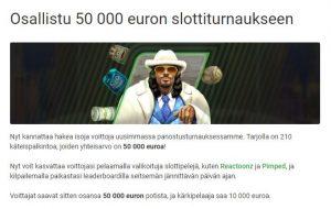 Unibet ja 50 000 euron slottiturnaus