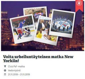 Paf - urheilumatka New Yorkiin