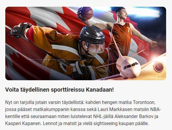 LeoVegas ja sporttireissu Kanadaan
