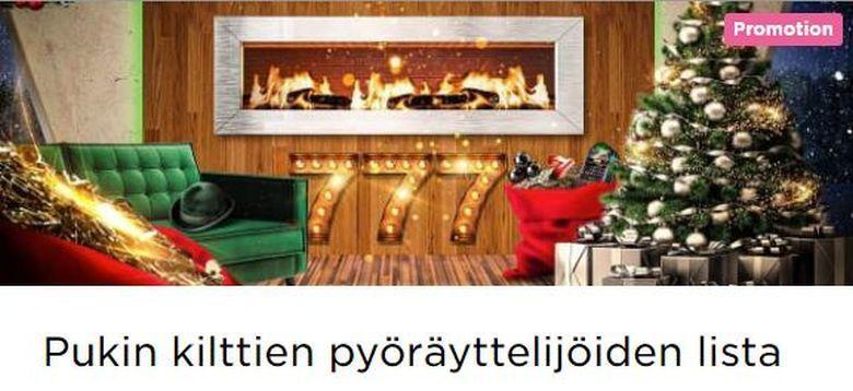 Mr Green ja joulupukin kilttien lista