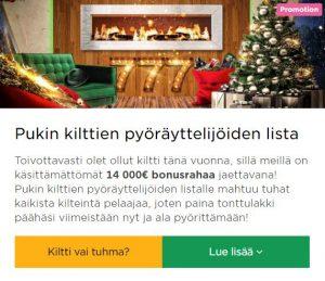 Mr Green - joulupukin kilttien lista