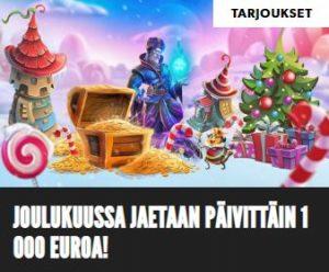 Rizk - päivittäiset 1000 euroa