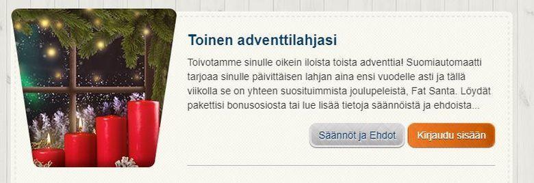 Suomiautomaatti - toinen adventtitarjous