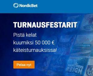 NordicBet - 50 000 euroa