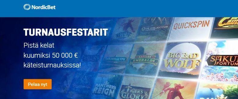 NordicBet ja 50 000 euroa