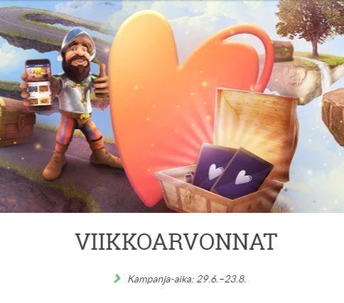 Suomiarpojen viikkoarvonta